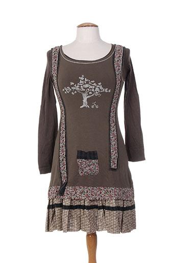 ian mosh robes femme de couleur marron