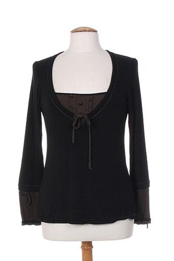 akela key t-shirts femme de couleur noir
