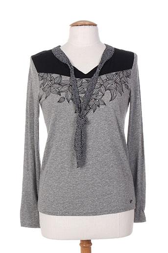 mae mahe t-shirts femme de couleur gris
