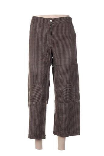 inge de jonge pantalons femme de couleur marron