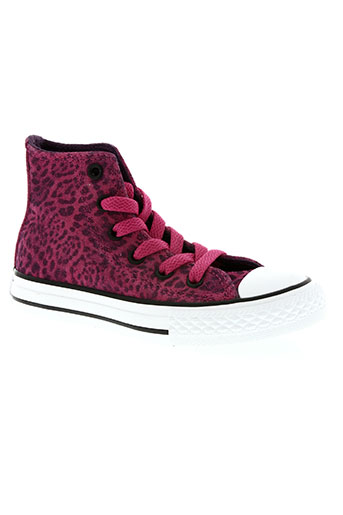 converse chaussures fille de couleur rose