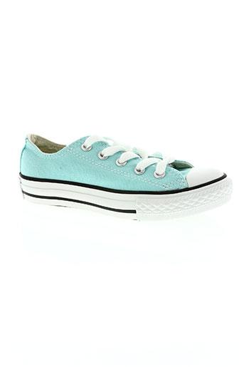 converse chaussures fille de couleur bleu