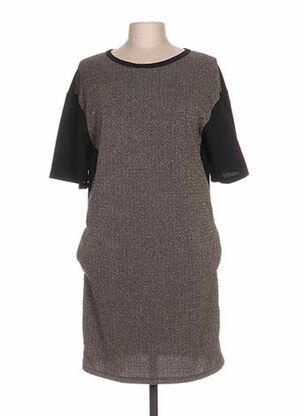 Robe mi-longue noir ARTIGLI pour femme