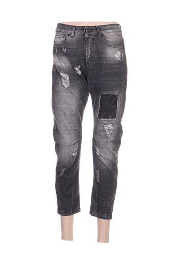 Jeans coupe droite noir ARTIGLI pour femme