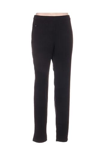 felino pantalons femme de couleur noir