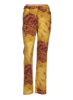 Pantalon casual jaune CLAUDE BAUER pour femme