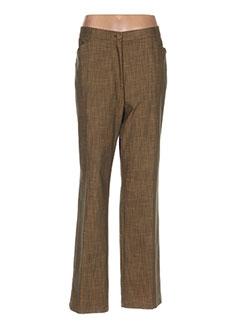 Pantalon casual marron CLAUDE BAUER pour femme