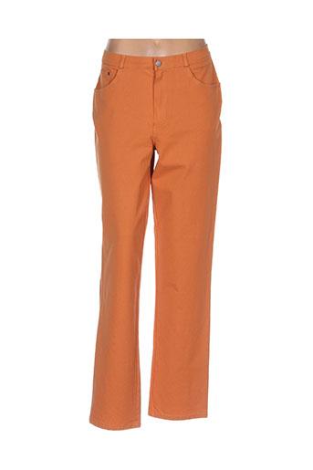 rosa rosam jeans femme de couleur orange