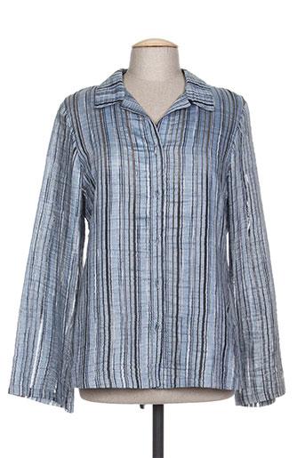 coco menthe chemises femme de couleur bleu