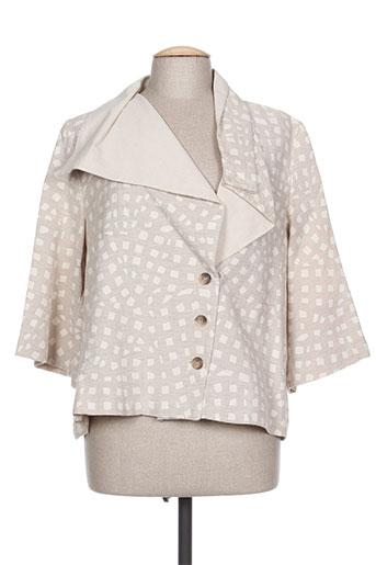 Veste casual beige ROSA ROSAM pour femme