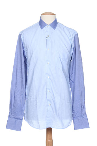 la squadra chemises homme de couleur bleu