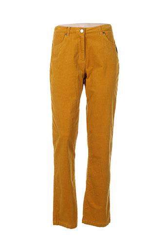 thalassa pantalons femme de couleur jaune