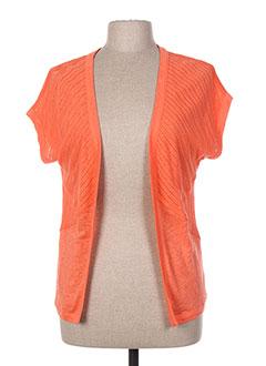 Gilet manches courtes orange MALOKA pour femme