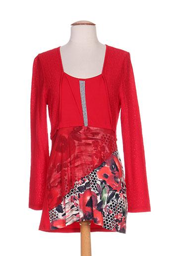 maloka tuniques femme de couleur rouge