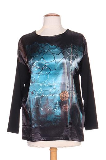 leyenda EFFI_CHAR_1 co t-shirts femme de couleur noir