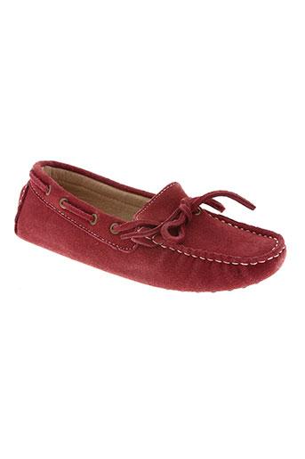 cafe noir chaussures femme de couleur rouge