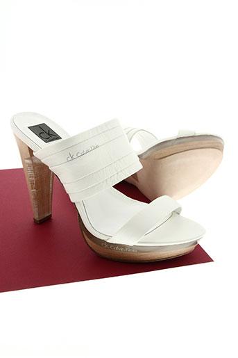 calvin klein chaussures femme de couleur blanc
