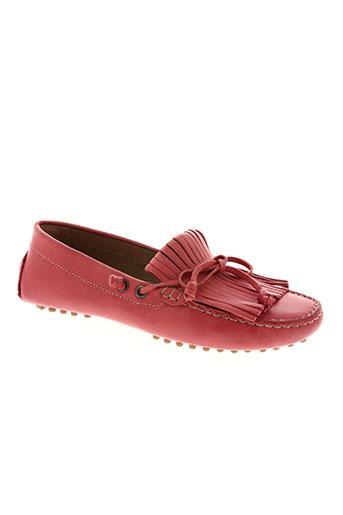 voyagers chaussures femme de couleur rouge