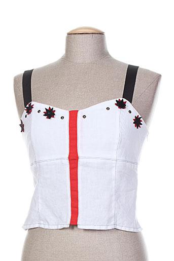 un point c est tout chemises femme de couleur blanc