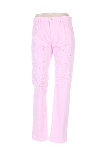 fuego woman pantalons femme de couleur rose