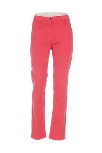 rose electron pantalons femme de couleur rouge