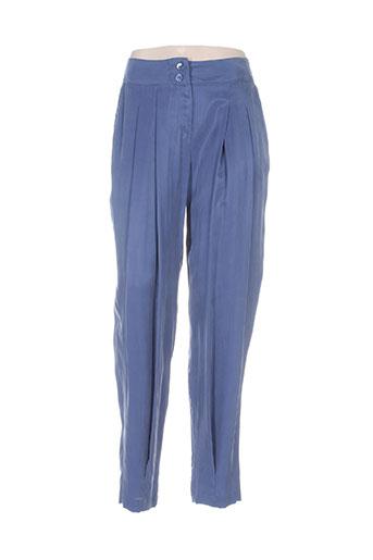 Pantalon chic bleu INFINITIF pour femme