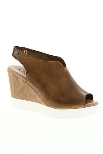 pretty things inside chaussures femme de couleur marron