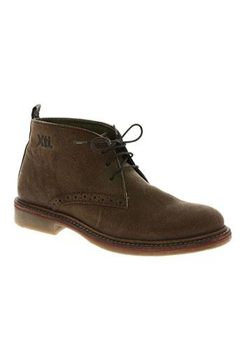 xti chaussures homme de couleur marron