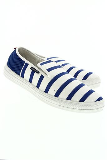 souts chaussures homme de couleur bleu