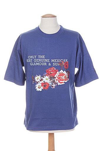 T-shirt manches courtes bleu PRIVATA pour homme