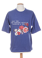 T-shirt manches courtes bleu PRIVATA pour homme seconde vue