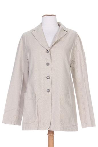 Veste chic / Blazer beige ERNEST pour femme