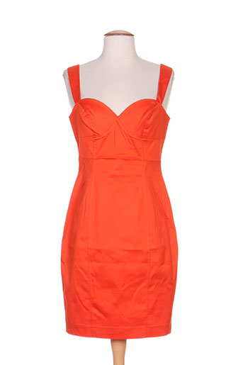 nathalie chaize robes femme de couleur orange