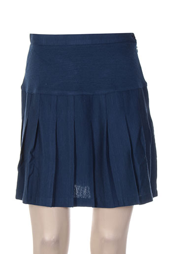 Jupe courte bleu FIL ASSORTI pour femme