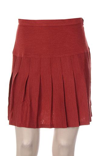 Jupe courte rouge FIL ASSORTI pour femme
