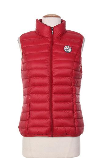 back to alaska manteaux femme de couleur rouge