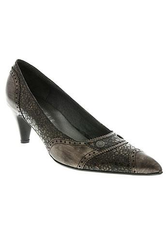 mondrie chaussures femme de couleur marron