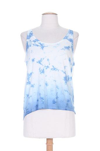g star t-shirts femme de couleur bleu
