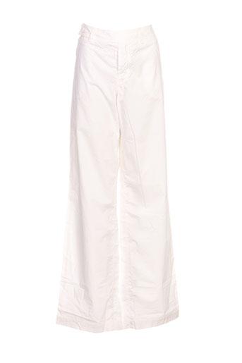 hel-s pantalons femme de couleur blanc