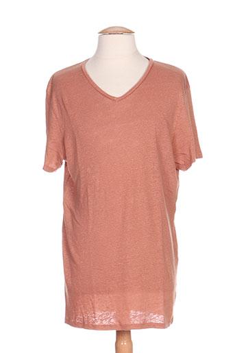 ikks t-shirts / tops homme de couleur orange