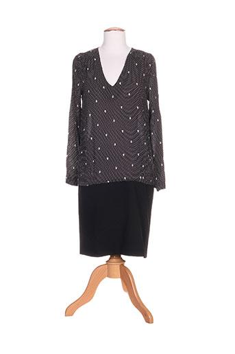 Robe mi-longue noir CORLEONE pour femme