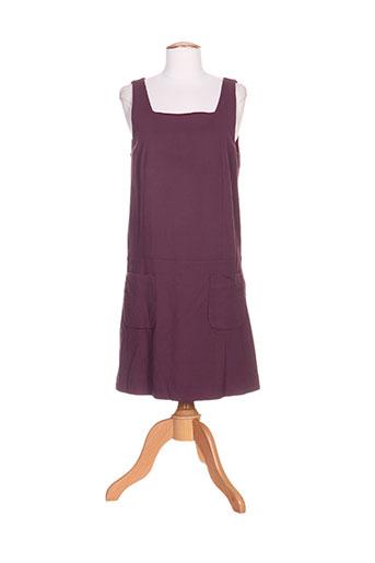 Robe mi-longue violet BRAY pour femme