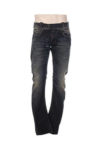 bray jeans homme de couleur bleu