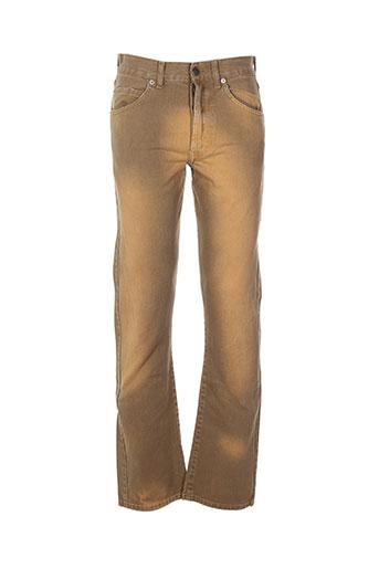 absolut joy pantalons homme de couleur beige