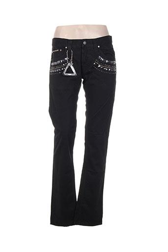 Pantalon casual noir ABSOLUT JOY pour femme