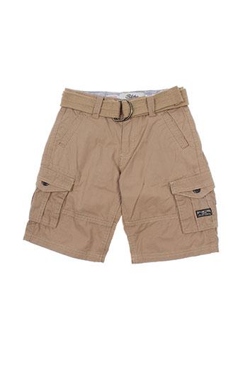 ritchie shorts / bermudas garçon de couleur marron