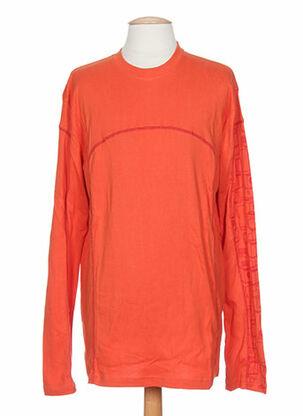 T-shirt manches longues orange IDEO pour homme
