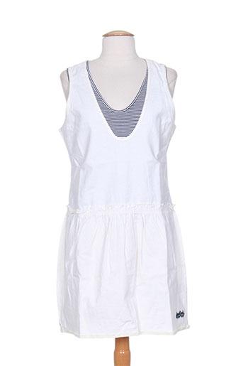 kana beach robes femme de couleur blanc