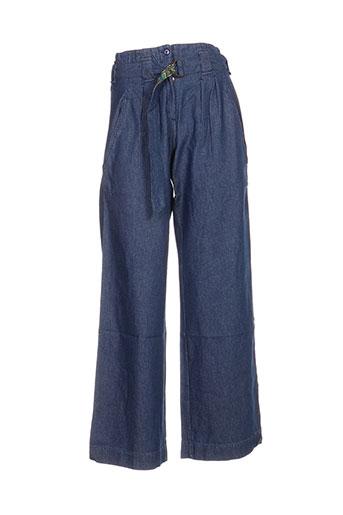 ideo jeans femme de couleur bleu