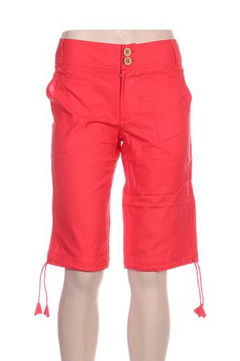 kolam shorts / bermudas femme de couleur rouge